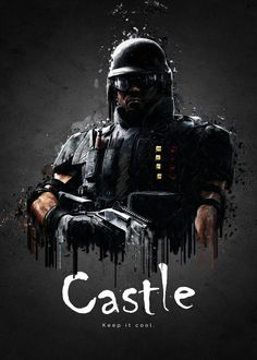 """Rainbow Six Siege Characters Castle #Displate artwork by artist """"TraXim"""". Part of a 33-piece set featuring artwork based on characters from the popular Rainbow Six video game. £37 / $49 per poster (Regular size), £74 / $98 per poster (Large size) #RainbowSix #RainbowSixSiege #TomClancy #TomClancysRainbowSix #Rainbow6 #Rainbow6Siege #TomClancysRainbow6 #Ubisoft"""