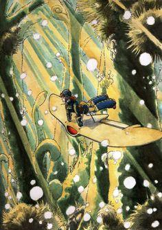 Nausicaa on her moeve by ~sphodromantis on deviantART