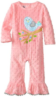 6ba766d5b62 Mud Pie Girls Chick Minky One Piece BodySuit 1132146 (0-6 Months)