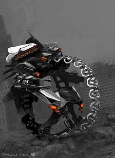concept robots: Polaris vehicle bot concept art by Michael Hritz