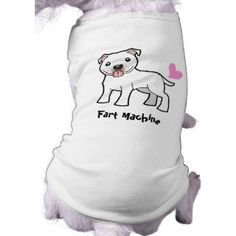 Smelly Pit Bull / Staffie (white) Doggie Shirt