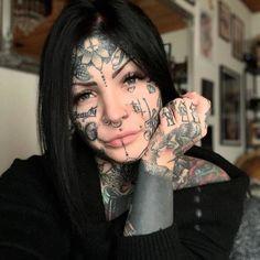 Tattoos for women – Tattoos And Girl Face Tattoo, Hot Tattoo Girls, Tattoed Girls, Girl Tattoos, Tattoed Women, Men Tattoos, Couple Tattoos, Facial Tattoos, Body Art Tattoos