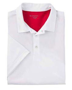Mens Pique Polo Shirt | Buy Harriton men's blocked micro pique polo at Gotapparel.com.