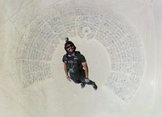Man Skydives Into Burning Man, Creates Perfect Portrait Of The Desert Festival