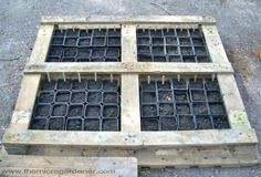 Learn how to UPCYCLE PALLETS into 20 DIY garden projects. Free tutorials, videos + safety tips for reusing wooden pallets. Planters, potting benches & more. Homemade Greenhouse, Portable Greenhouse, Indoor Greenhouse, Greenhouse Ideas, Pallet Greenhouse, Cheap Greenhouse, Seed Raising, Pallets Garden, Pallet Gardening