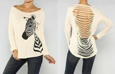 ZEBRA TERRY TOP - Two Shades of Pink