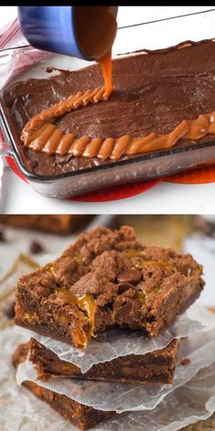 Caramel Brownies are the ABSOLUTE best! The hit of any party, requested all the time, and totally addictive!These Caramel Brownies are the ABSOLUTE best! The hit of any party, requested all the time, and totally addictive! Fun Baking Recipes, Sweet Recipes, Party Desserts, Just Desserts, Health Desserts, Brownie Recipes, Cookie Recipes, Snacks Recipes, Patisserie Fine
