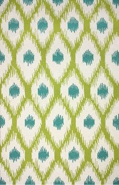 Turquoise and lime green home decor