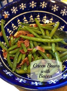 Green Beans with Bacon | injeniouslife