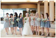 Blue and grey bridesmaids dresses   Cindarella Fairytale wedding   Un matrimonio da favola: Cenerentola http://theproposalwedding.blogspot.it/ #cindarella #fairytale #wedding #autumn #matrimonio #cenerentola #autunno