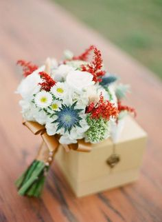 Wedding Bouquets Inspiration : Pops of color: www.stylemepretty