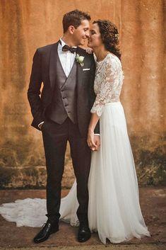 30 The Most Popular Groom Suits ❤  groom suits black with tweed bow country serafin castillo #weddingforward #wedding #bride