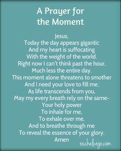 prayer for the moment