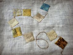 pic from a fiber artist who dyes and quilts. Textile Fiber Art, Textile Artists, Fabric Art, Fabric Crafts, Quilt Patterns, Floral Patterns, Textile Patterns, Quilt Labels, Doll Quilt