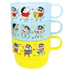 T'S Factory Crayon Shin-Chan Plastic Cup (3 Pieces Set) (Shin-Chan) | YesStyle Crayon Shin Chan, Modern Shop, Beauty Packaging, Pet Accessories, 3 Piece, Objects, Plastic, Japan, Gadget