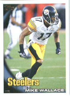 2010 Topps NFL Football Card # 8 Mike Wallace - Pittsburgh Steelers - NFL Trading Card in a Protective ScrewDown Case! by Topps. $1.39. 2010 Topps NFL Football Card # 8 Mike Wallace - Pittsburgh Steelers - NFL Trading Card in a Protective ScrewDown Case!