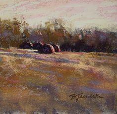 Farmyard Harmony by Barbara Jaenicke Pastel ~ 6 x 6