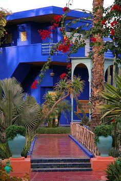 Marjorelle Gardens. Marrakech, MOROCCO.