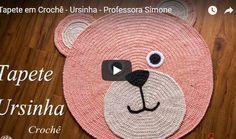 Crochet Carpet, Crochet Home, Crochet For Kids, Knit Crochet, Crochet Rug Patterns, Crochet Stitches, Mochila Crochet, Animal Rug, Knit Rug