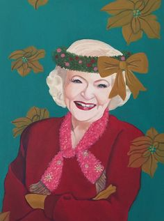 Betty White- Who Series by Jessica Lepore  Oil painting, 2015