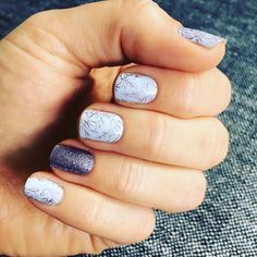 #perfectperiwinklejn and #almondsparklejn so cute and perfect together. This look is a #purplemanicure #purplelovers dream!