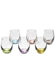 Rainbow Cordial Glasses