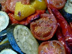 Roasted Veg! Suppers, Roast, Yummy Food, Stuffed Peppers, Healthy Recipes, Vegetables, Simple, Dinners, Delicious Food