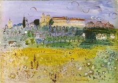 Raoul Dufy - paysage rural langres