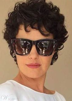 Trending Womens Short Curly Hairstyles Short Length Synthetic Hair Wigs Lace Front Cap Wigs Find latest women's clothing, dresses, tops, outerwear, and other fashion clothing and enjoy the worldwide shipping # Short Curly Hairstyles For Women, Curly Hair Styles, Hairstyles Over 50, Curly Hair Cuts, Short Hair Cuts, Bob Hairstyles, Hairstyles Videos, Curly Short, Wedding Hairstyles