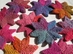 knitted STARS  free pattern