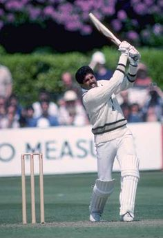 Kapil Dev- captain of India's first world cup winning team! India Cricket Team, World Cricket, Cricket Bat, Cricket News, Creative Book Covers, Kapil Dev, First Superhero, First World Cup, Sports Personality