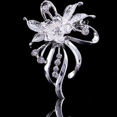 Find More Brooches Information about 34*48mm handmade Boutique Flowers vintage brooch color rhinestone brooches for women diy Fashion Jewelry breastpin brooch pins,High Quality brooch pin,China brooch necklace Suppliers, Cheap brooch wedding from Playful beauty department store on Aliexpress.com