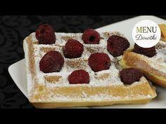 Jak zrobić domowe gofry? Przepis na idealne ciasto. MENU Dorotki. - YouTube Tiramisu, Waffles, Muffins, Menu, Make It Yourself, Baking, Breakfast, Ethnic Recipes, Youtube