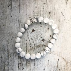 Howlite Bracelet for Peace and Tranquility | Crystal Healing Bracelet Infused with Reiki | Genuine 8mm White Howlite Beaded Bracelet Mala Healing Bracelets, Crystal Bracelets, White Beads, Silver Beads, Crystals And Gemstones, Crystal Healing, Reiki, Peace, Handmade