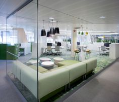 Itellas nye hovedkontor i Pasila Box Office, Office Interiors, Modern, Offices, Glass Walls, Design, Nye, Collaboration, Creativity