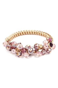 Juniper Bracelet in Dust Rose Crystals....would be a cute bridesmaid gift