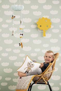 Ferm Living Mobile kite multicolor cotton 25x70cm 'Kite' - Wonen met LEF!