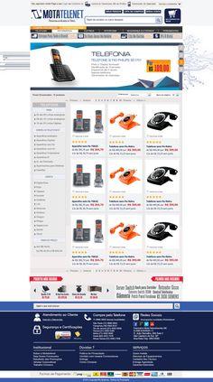 Criação de Interface com usabilidade para página virtual no ano de 2012 para o E-commerce Motatelenet Tecnologia.