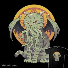 Cosmic Cat | Shirtoid #cat #cats #cthulhu #hplovecraft #horror #vincenttrinidad