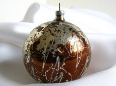 Vintage Brown with Mica ZigZags Large Christmas by bythewayside, $5.00