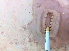 Aqui tenemos la boca con ideas rebolucionarias ( notesé en la personificación del echo de ponerle a una boca de fango un cigarrillo)