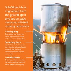 The Solo Stove Liteis ourlightest stove that offers the ultimate combination of reliability and ease-of-use. It's the easiest and lightest way to cook, and will leave you with more space in your pack while out on the trail.