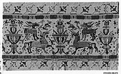 Altar Cloth  Date: early 16th century  Culture: Italian, possibly Sicily  Medium: Linen  Dimensions: L. 44 1/2 x W. 71 inches 113.0 x 180.3 cm  Classification: Textiles-Embroidered  Accession Number: 20.186.373