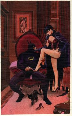 Batman & Catwoman by Mike Vosburg.