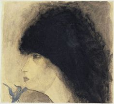 Мари Лорансен «Голова девушки» 1918 г.