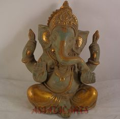 Beautiful Old Ganesha Elephant headed God of by Asiaticarts