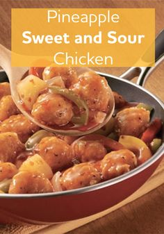 You'll be amazed by this Pineapple Sweet and Sour Chicken Skillet, not to mention it's quick and easy!