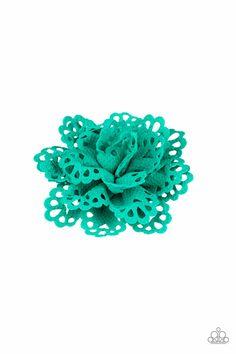 7f4329b858e00 Floral Fashionista Blue Hair Clip