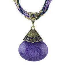 BOHO Mystical Stone Rope Necklace