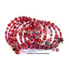 Red Hot Coil Bracelet Red Jade Bracelet, Crystal Bracelet, Coil... ($66) ❤ liked on Polyvore featuring jewelry, bracelets, red jade jewelry, red jade bangle, jade bangle, crystal jewelry and hinged bracelet